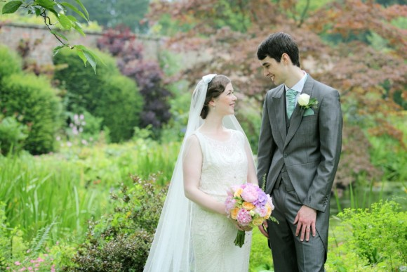 pretty history. jenny packham for a vintage styled wedding at saltmarshe hall – catriona & pete