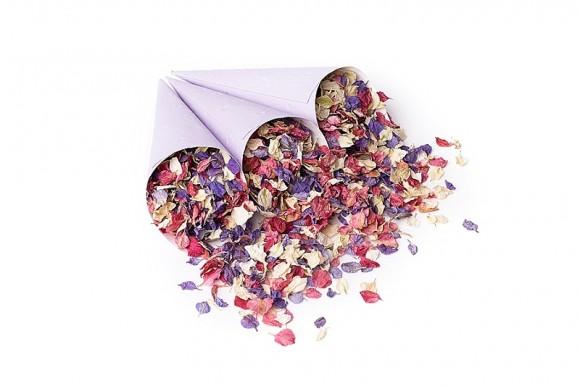 ShropshirePetals.com Purple confetti cones with Kaleidoscope £11.95 per litre