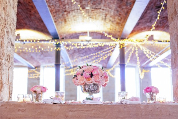blushing romance: a rose quartz inspired styled shoot at the arches