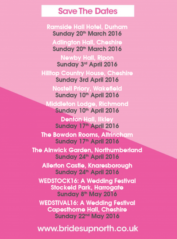 Wedding Show Dates Spring 2016