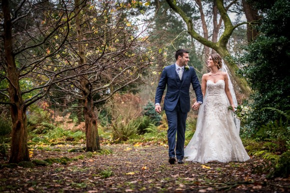 winter wishes. justin alexander for a personal wedding at abbeywood estate – kate & chris
