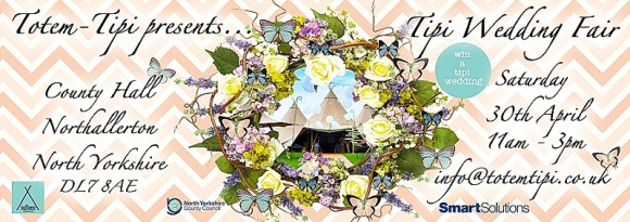 Totem Tipi wedding fair invitation