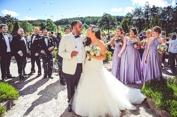 totally together. enzoani for a bright & cheerful wedding at slaley hall – kate & michael