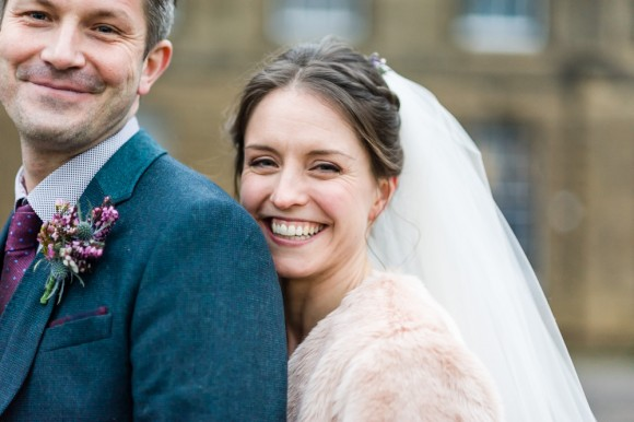 real wedding recap: antlers & heather for a countryside wedding at chatsworth – clare & tom