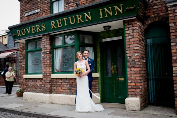 festival wedding chic. watters for a fun celebration in manchester – sally & dan