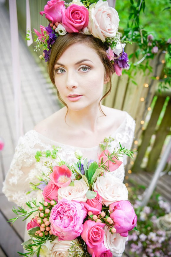 Pretty Styled Bridal Shoot at The Alnwick Garden (c) Kimberley Waterson (13)
