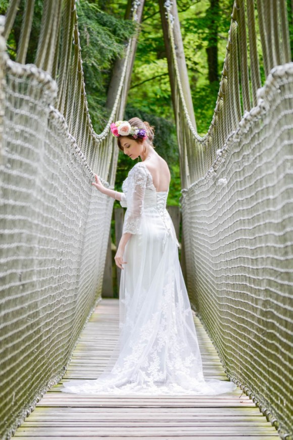 Pretty Styled Bridal Shoot at The Alnwick Garden (c) Kimberley Waterson (7)