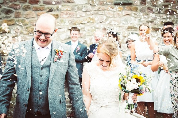 real wedding recap: justin alexander for a colourful wedding in the north west – molly & luke