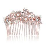GlitzySecrets.com - Rose Gold Blooms Hair Comb
