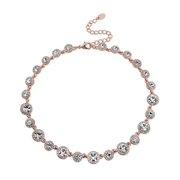 GlitzySecrets.com - Rose Gold Starlet Necklace