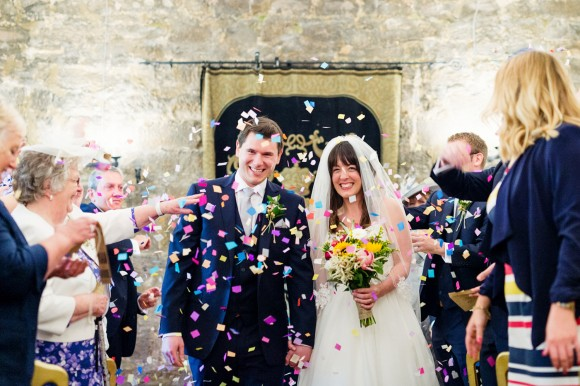 peonies & daises for a relaxed wedding at danby castle – katy & ross
