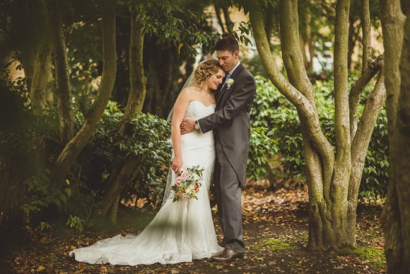pretty rustic. ellis bridals for a personal wedding at hexham winter gardens – sian & travers