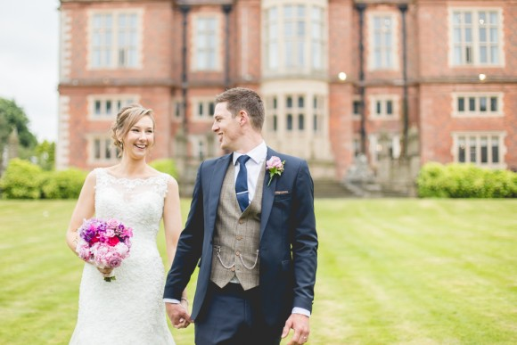 roses & tweed. sophia tolli for a sophisticated wedding at crewe hall – laura & luke