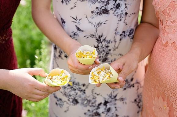 ShropshirePetals.com Yellow Confetti Cones with Sunshine Kisses £11.95 per litre