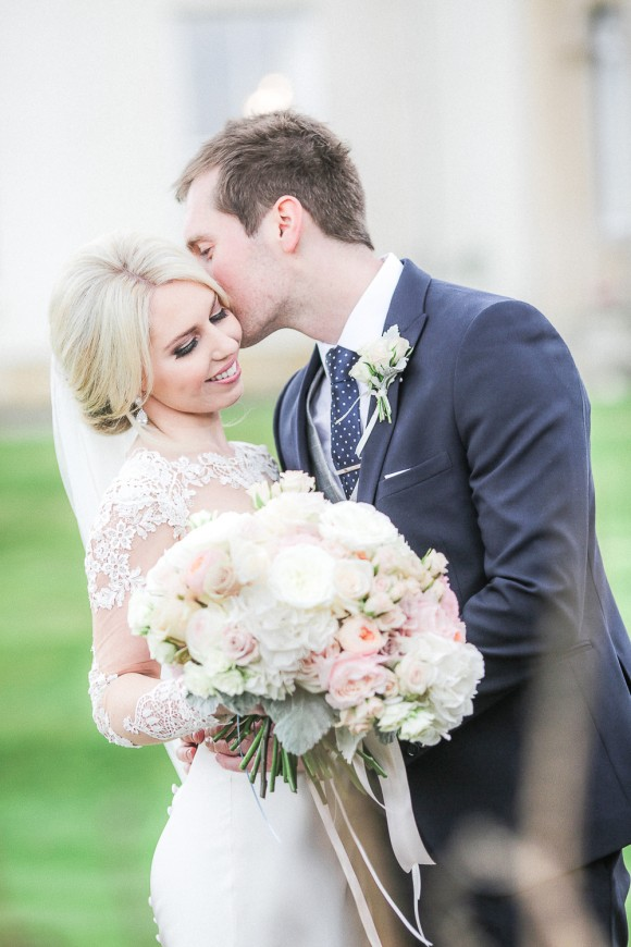real wedding recap: martina liana for a luxurious wedding at lartington hall – stefanie & jason