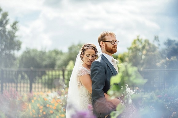 relaxed romance. maggie sottero for a pretty summer wedding at abbeywood gardens – genna & martin