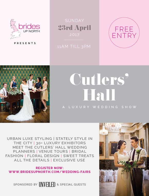 hey #bridesquad… you need to be at our urban luxe bridal show at cutlers' hall, sheffield