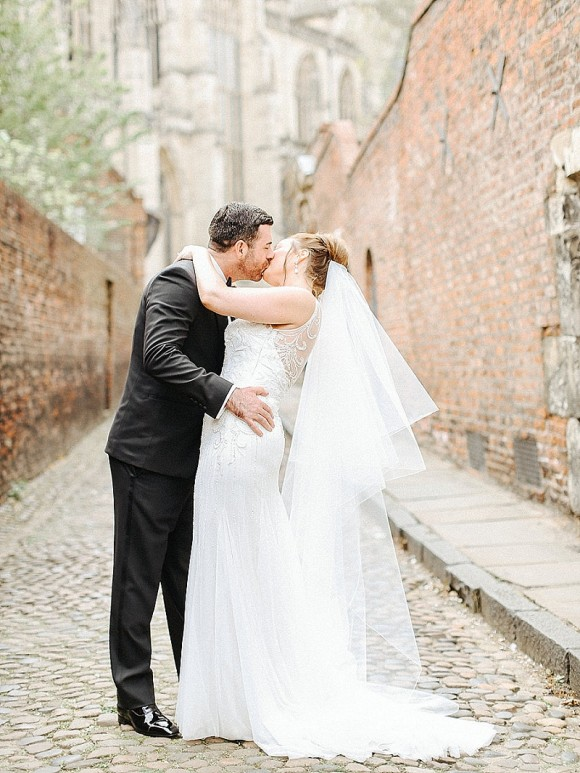 real wedding recap: pronovias for an elegant wedding at grays court, york – katie & andrew