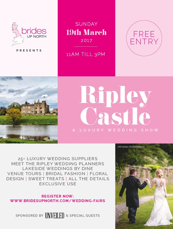 this sunday! you're invited to a luxury bridal show at ripley castle