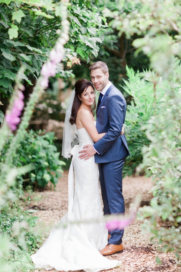 rose gold romance. an ellis dress for a pretty wedding at ness botanic gardens – rachel & josh