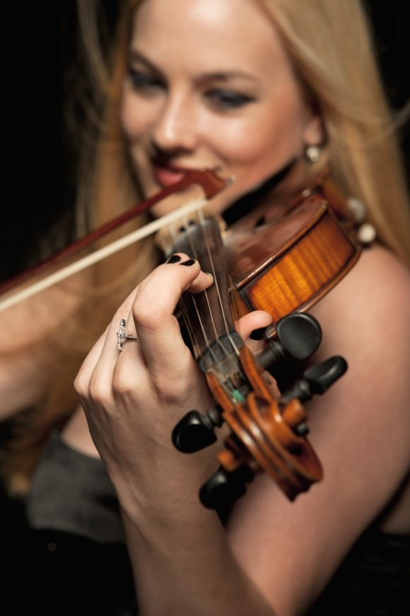 """beautiful female violinist posing with her violin, looking straight into you; ARGB color spacesee other similar images:"""