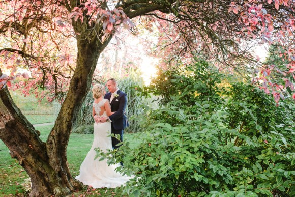 pretty in pink. stella york for a romantic wedding at newton hall – samantha & mark