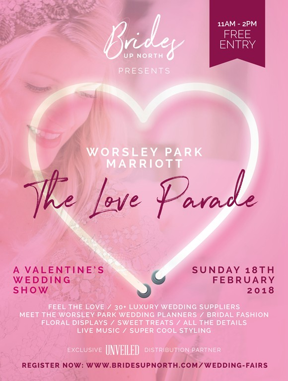 this sunday! valentine's wedding show @ worsley park marriott
