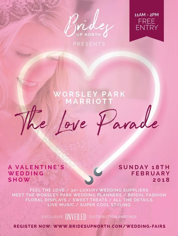 this sunday! valentine's wedding show @ worsley park marriott