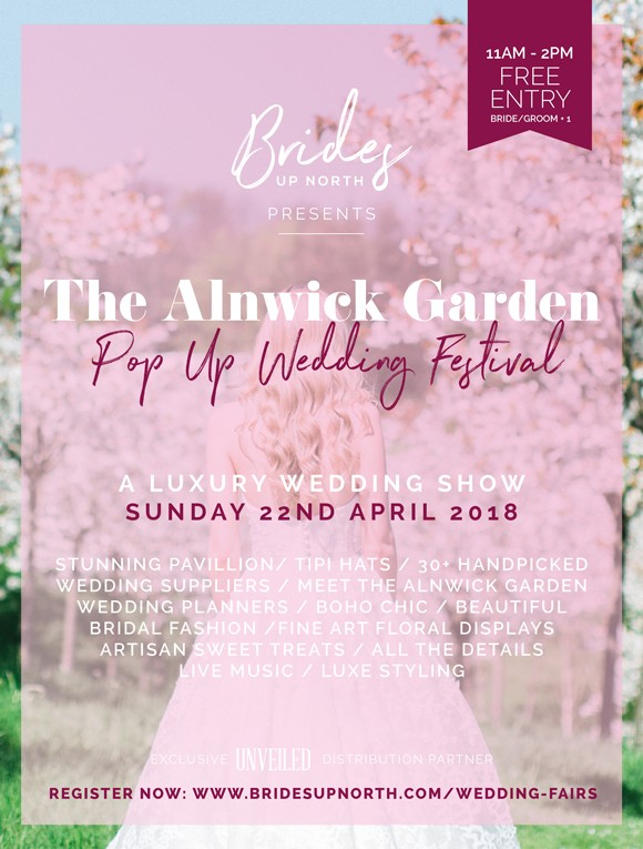 a pop up wedding festival: you're invited to the alnwick garden
