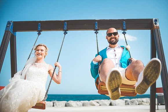 tropical punch. maggie sottero for a destination wedding on the costa del sol – zalie & jack