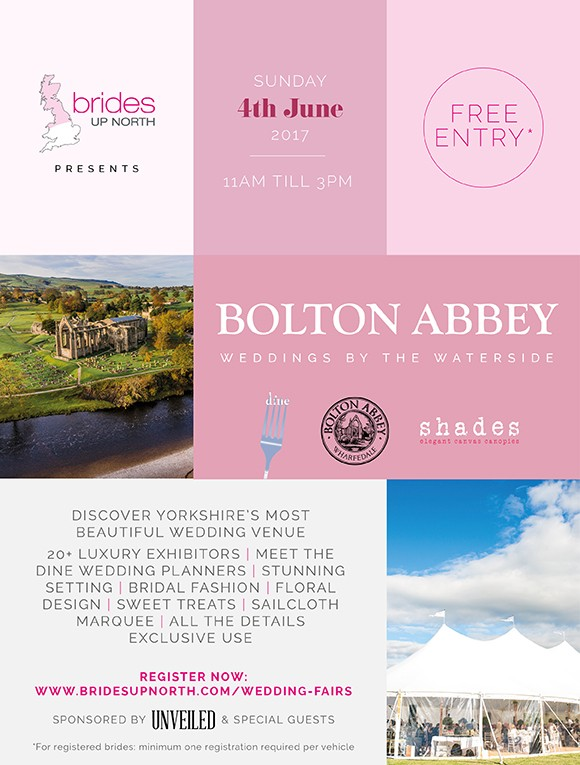 this sunday: its a pop up wedding festival fair at bolton abbey!