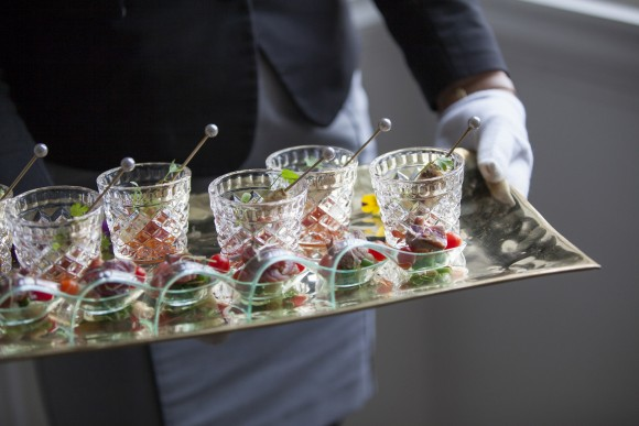 Canapés can be a fantastic way to incorporate small elements of food into your wedding breakfast