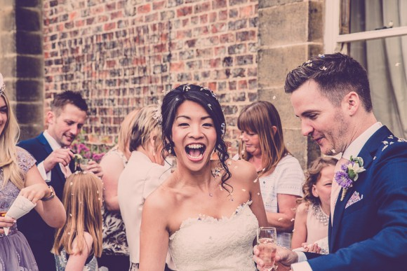 blooms & bunting. enzoani for a rustic wedding at tanfield house – donna & darren