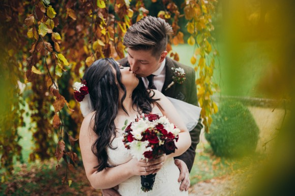 rich raspberries & rustic reds. an elegant autumn wedding at browsholme hall – katie & josh