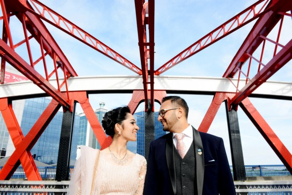 culture club. a vibrant indian wedding at victoria warehouse, manchester – varsha & rosh