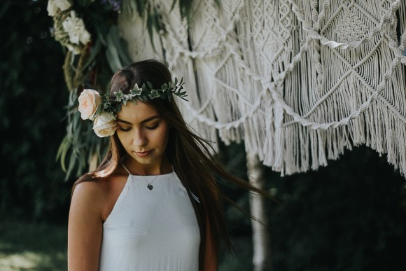 mesmerising macrame. a woodland boho wedding styled shoot in the north west