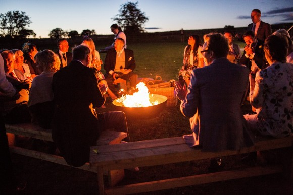 If you're looking for a way to keep your guests warm why not try a fire pit