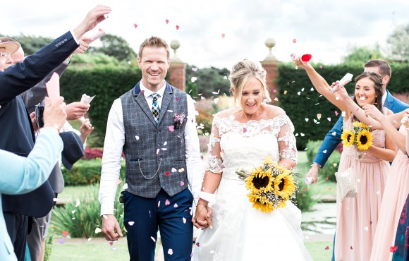 festival feels. sunflowers & smiles for a colourful outdoor wedding at abbeywood estate – alana & david
