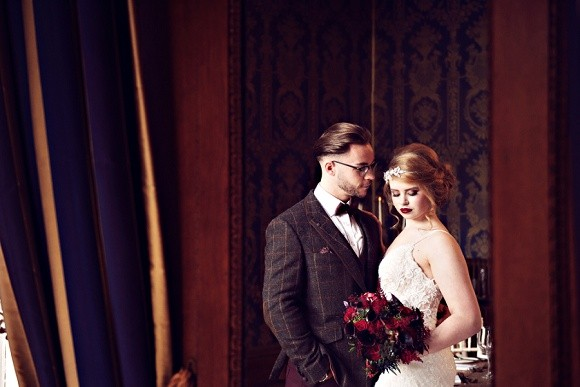 berry gorgeous: a rich & opulent styled shoot at soughton hall