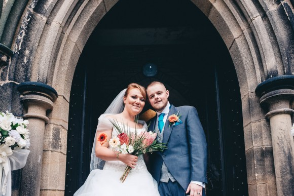 belle of the ball. teal & coral for a fairy-tale wedding in the north west – amy & jamie