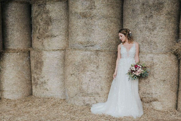 country luxe: a seasonally glamorous styled shoot at castle farm barn