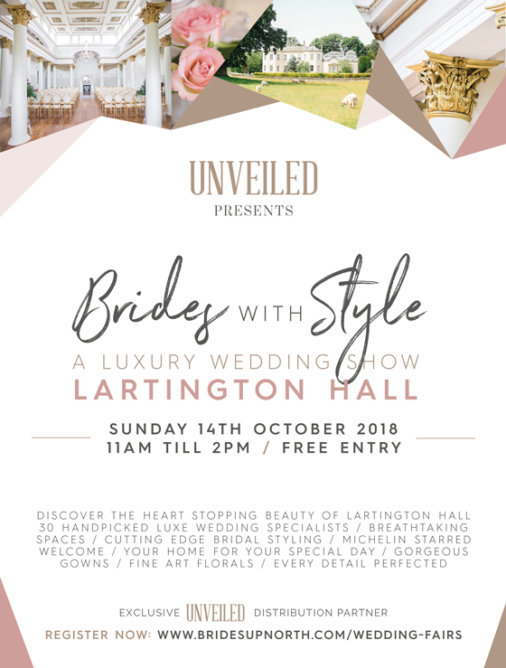 brides with style: a luxury wedding show at lartington hall
