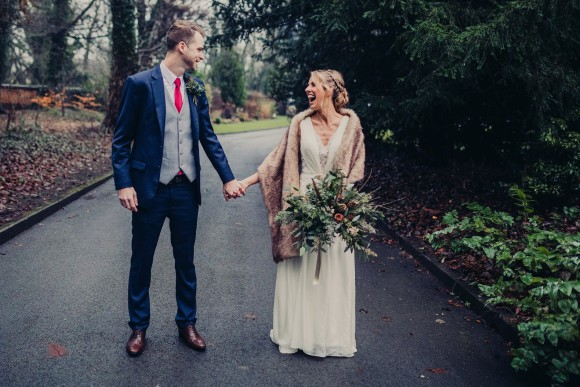 foliage & finery: elizabeth gregory couture for a winter wedding at samlesbury hall – suzanne & bevan