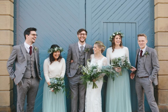 real wedding recap 2018: cool botanics for an urban warehouse wedding – kate & russell