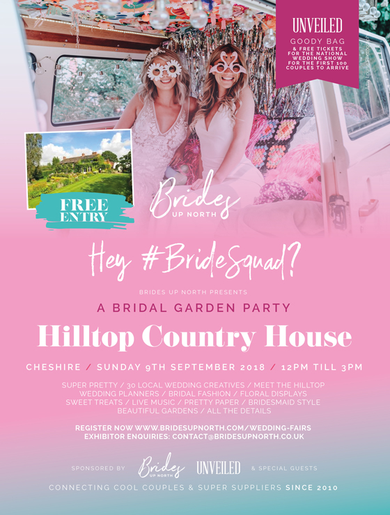 let's get this season started! it's cheshire's prettiest wedding fair at hilltop country house!