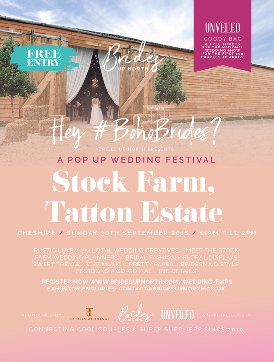 love rustic luxe? its a pop up wedding festival at stock farm, tatton estate!