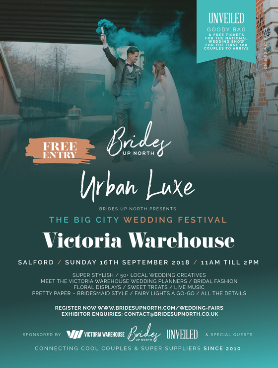 it's bigcitywedfest'18 at victoria warehouse (whoop!)