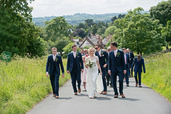 la dolce vita: jenny packham for a fairy tale garden wedding in ripon – francesca & richard