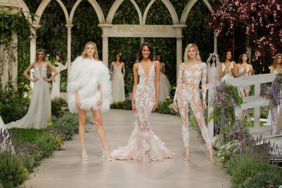 on the catwalk: 2019 atelier pronovias collection, barcelona