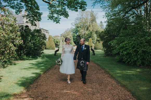 blossoming romance: a bespoke gown for a personal wedding at kirknewton house stables, edinburgh – ellinor & michael